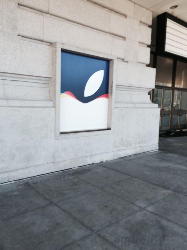 9月9号的iPhone 6S苹果发布会场外目前的布置情况