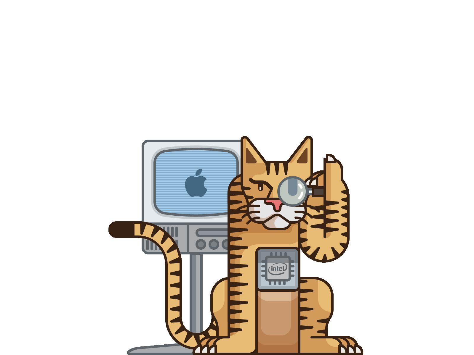 2005年4月推出的OS X 10.4 TIGER